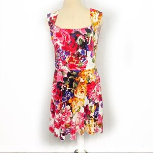 New York & Company Floral Fit & Flare Dress